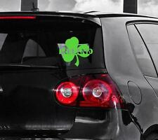 Ireland Irish Shamrock Car Styling Window Sticker, Bright Green
