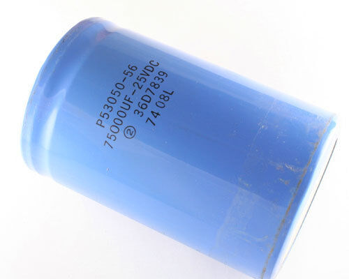 New 1x 75000uF 25V Large Can Aluminum Electrolytic Capacitor 75000mfd 25VDC DC