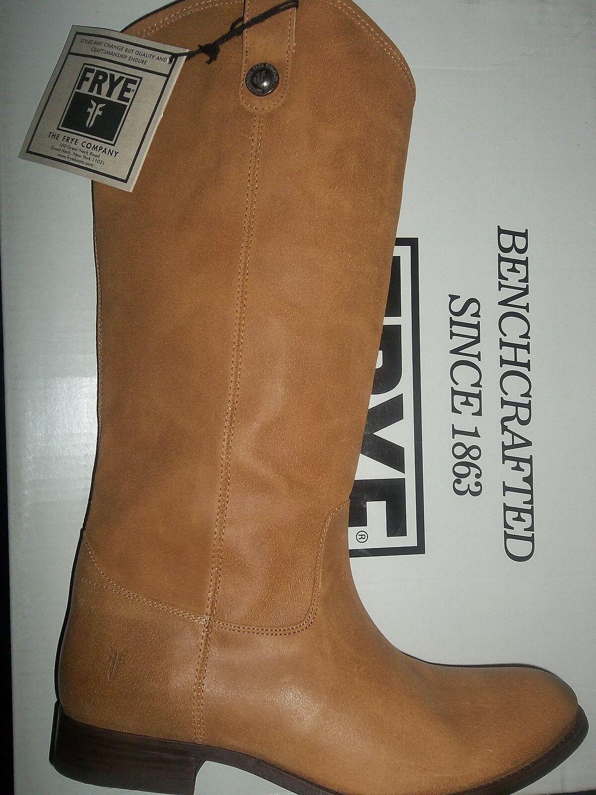 Frye MELISSA BUTTON Cowboy Western Leather Boots  77162 Tan Tan 11M M Women New