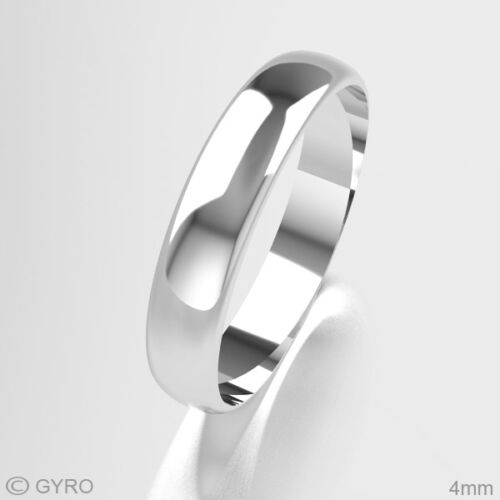 New Platinum Wedding Rings D Shape Band His//Hers 2mm 3mm 4mm 5mm 6mm 8mm