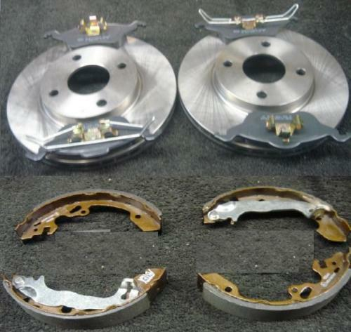 FORD FOCUS 98-04 FRONT BRAKE DISCS & PADS REAR SHOES