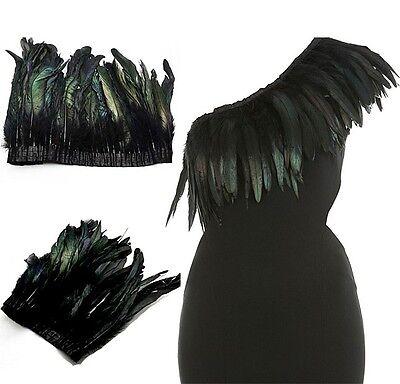 50CM X Black Long Feather Boa Wrap Scarf DIY As Cape Shawl Poncho Skirt Stole