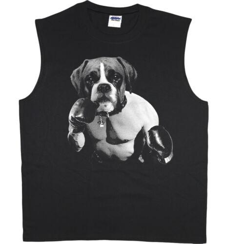 Men/'s sleeveless shirt boxing boxer decal design muscle tee tank top