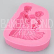 Lady & Man Bride & Groom Dancing Silicone Mould Cake Fondant Sugarcraft Topper