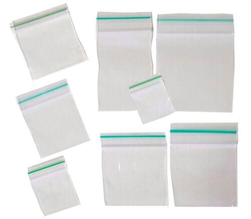 Plain claras maloliente prueba BAGGIES Bolsas con sello hermético Vario Tamaño Disponible