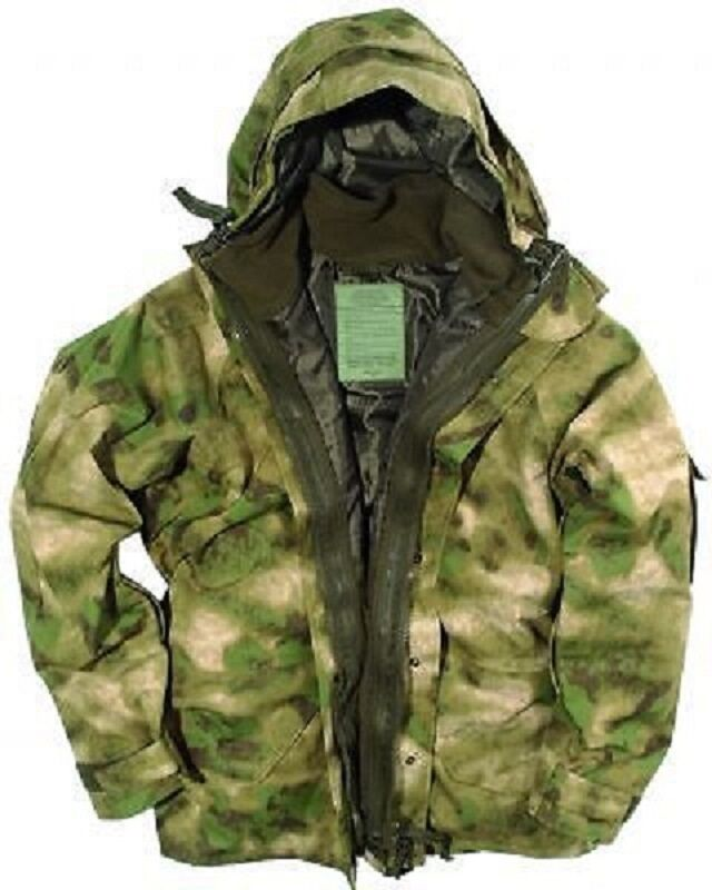 US Ecwcs Cold Wet Weather Umidità Parka Army Giacca Pile Mil Tacs Fg Large
