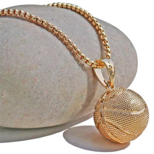 Creative Unique Shiny Basketball Soccer Shape Pendant Long Chain Necklace CB