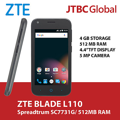 New ZTE BLADE L110 4.4 Inch 5 MP 512MB RAM/ 4GB STORAGE Factory Unlocked Phone