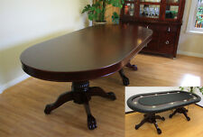 10 Player Luxury MRC Poker Table MONARCH Solid Wood Legs with Dinning Top