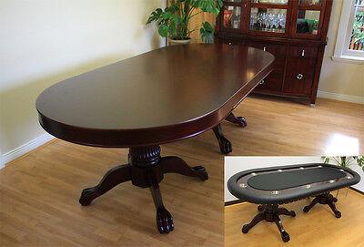 10 Player Luxury Mrc Poker Table Monarch Solid Wood Legs