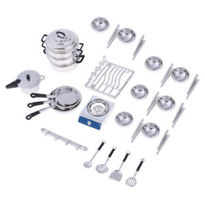 1//12 Kitchenware Cookware Set for Dolls House Miniature Kitchen Accessory