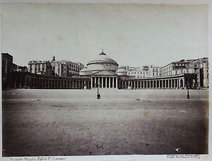 Napoli-Basilique-San-Francesco-Di-Paola-Italia-Foto-Vintage-Albumina-c1880