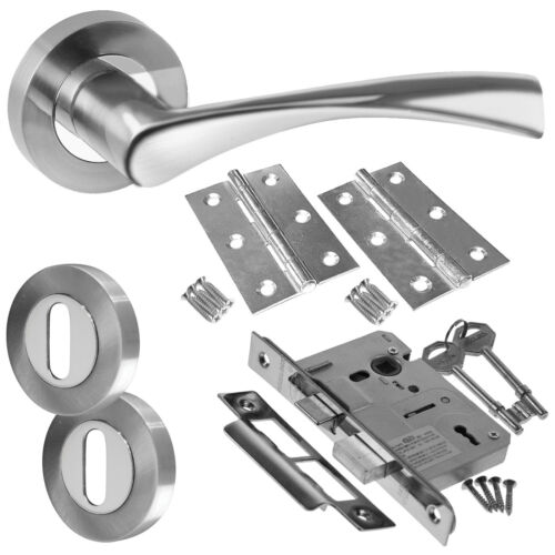 Latch Lock Bathroom Door Handle Packs Astrid Chrome Internal Door Handle Packs