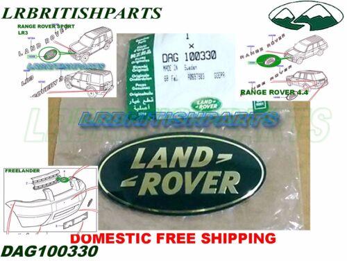 LAND ROVER FRONT GRILLE NAME PLATE RANGE ROVER LR3 FREELANDER SPORT DAG100330