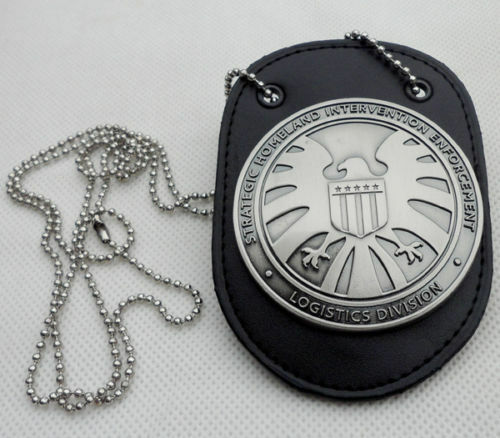 Metal SHIELD Badge Pin /& Badge Holder Agents of shield S.H.I.E.L.D