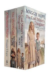 Maggie-Hope-3-Books-Romance-Family-Saga-Wartime-Nurse-Coal-Miner-039-s-Daughter-New