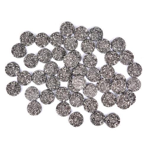 50Pcs//Set 12mm Resin Dome Cabochon DIY Scrapbook Jewelry Flat Back Rhinestone HU