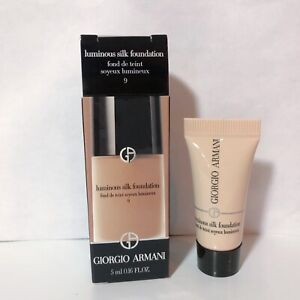 Giorgio Armani Luminous Silk Foundation Shade 9 Sample Size 5ml 0 16fl Oz New Ebay