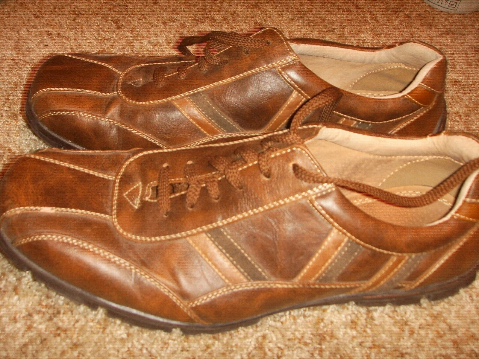 Bass Travis Brown Leather Athletic Oxfords shoes Mens Size 11M