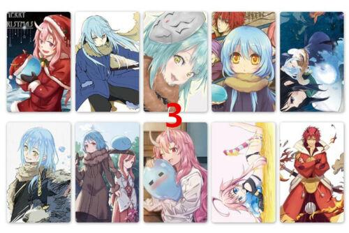 N Anime Tensei shitara Slime Datta Ken 10pcs//set Card Paster Sticker Credit