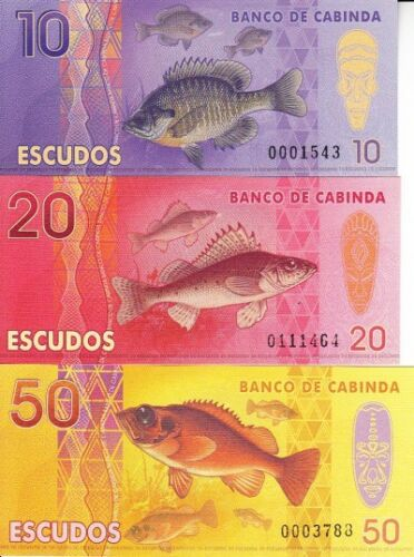 LOT 5 SETS Cabinda set 6 banknotes 2013 UNC private issue