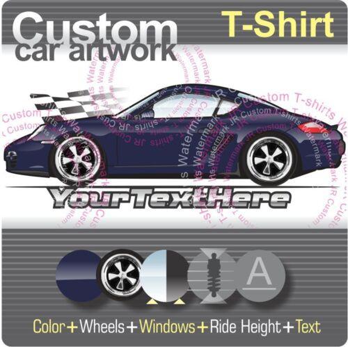 Custom T-Shirt Pour Porsche 2006-2012 987 Cayman S Boxter 2.7 3.4 RS60 Spyder Fan