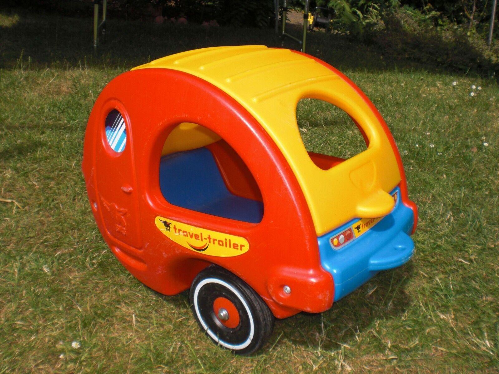 BIG Travel Trailer - Flüsterreifen - Bobby Car Wohnwagen Bobbycar Anhänger