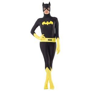 Image is loading Batgirl-Costume-Adult-Superhero-Zentai-Spandex-Bodysuit -Halloween-  sc 1 st  eBay & Batgirl Costume Adult Superhero Zentai Spandex Bodysuit Halloween ...