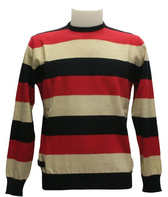Henri lloyd Pullover Streifen Mod. Variant Kol. Rot/Beige