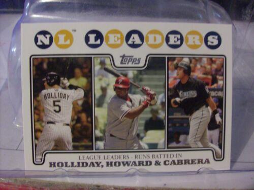 2008 Topps Baseball Card Base Singles Base /& Update YOU PICK CARDS