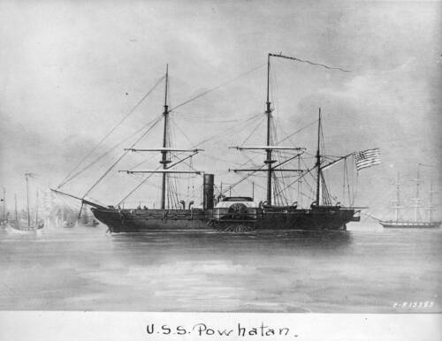 Old Photo Ship USS Powhatan