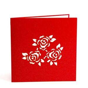 3d pop up flower gift greeting card birthday wedding anniversary 3d pop up flower gift greeting card birthday wedding anniversary valentine love m4hsunfo