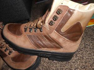 Details zu Adidas Trekking 057 Gr. 40 Originals 80er Vintage Stiefel Leder braun Retro