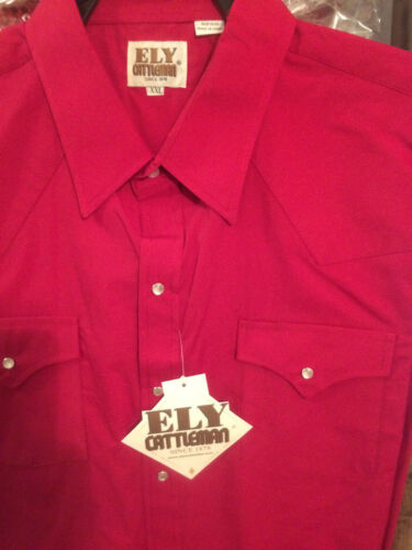 Ely Cattleman Western Shirt Long Sleeve CRANBERRY SOLID