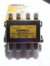 DirecTV FTA Zinwell 4X4 MultiSwitch SAM-4402-3A DTV Approved Switch 4 x TV 4402
