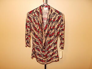 Image Is Loading Nwt Eci New York Blouse 3 4 Sleeve