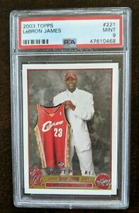 LEBRON-JAMES-RC-ROOKIE-CARD-2003-04-TOPPS-BASKETBALL-221-PSA-9-MINT-4X-CHAMPION