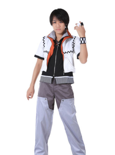 Kingdom Hearts II Cosplay Costume Roxas Complete Outfit Set V1