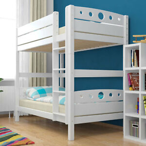 etagenbett stockbett magnus wei buche massiv vollholz kinderbett hochbett neu ebay. Black Bedroom Furniture Sets. Home Design Ideas
