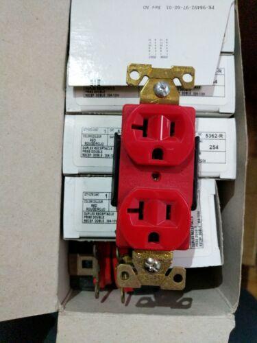 5362-R Leviton Duplex Receptacle Red 20A 125V NIB
