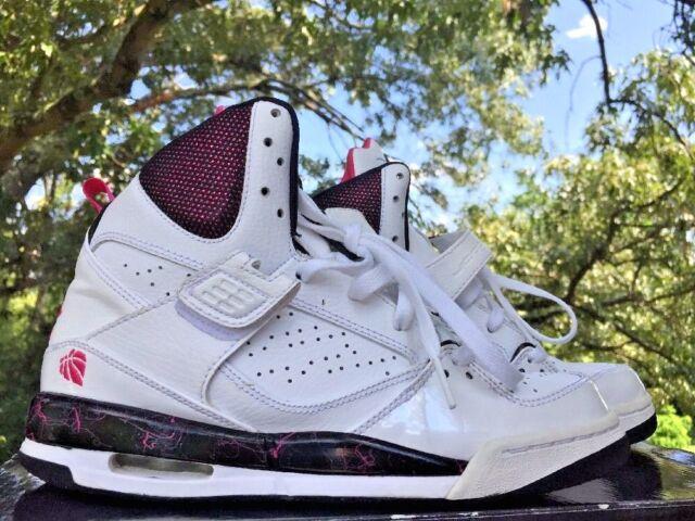Kids Nike Air Jordan Flight 45 High Girls Basketball Shoes Size 6.5 Y