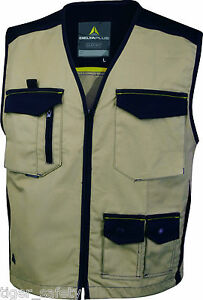 Delta-Plus-Panoply-M5GIL-Beige-Mach-Spirit-Mens-Work-Gilet-Tool-Vest-Bodywarmer