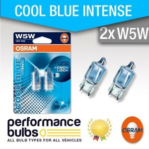 LANCIA-DELTA-III-08-gt-Number-Plate-Light-Bulbs-W5W-501-OSRAM-Cool-Blue-Wedge