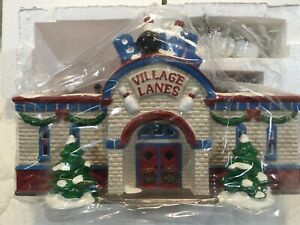 Dept 56 Original Snow Village ~Bowling Alley~ 54858, Huge ...  |Bowling Alley Snow