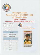 MIODRAG BELODEDICI ROMANIAN INTERNATIONAL 1984-00 ORIG HAND SIGNED CUTTING/CARD