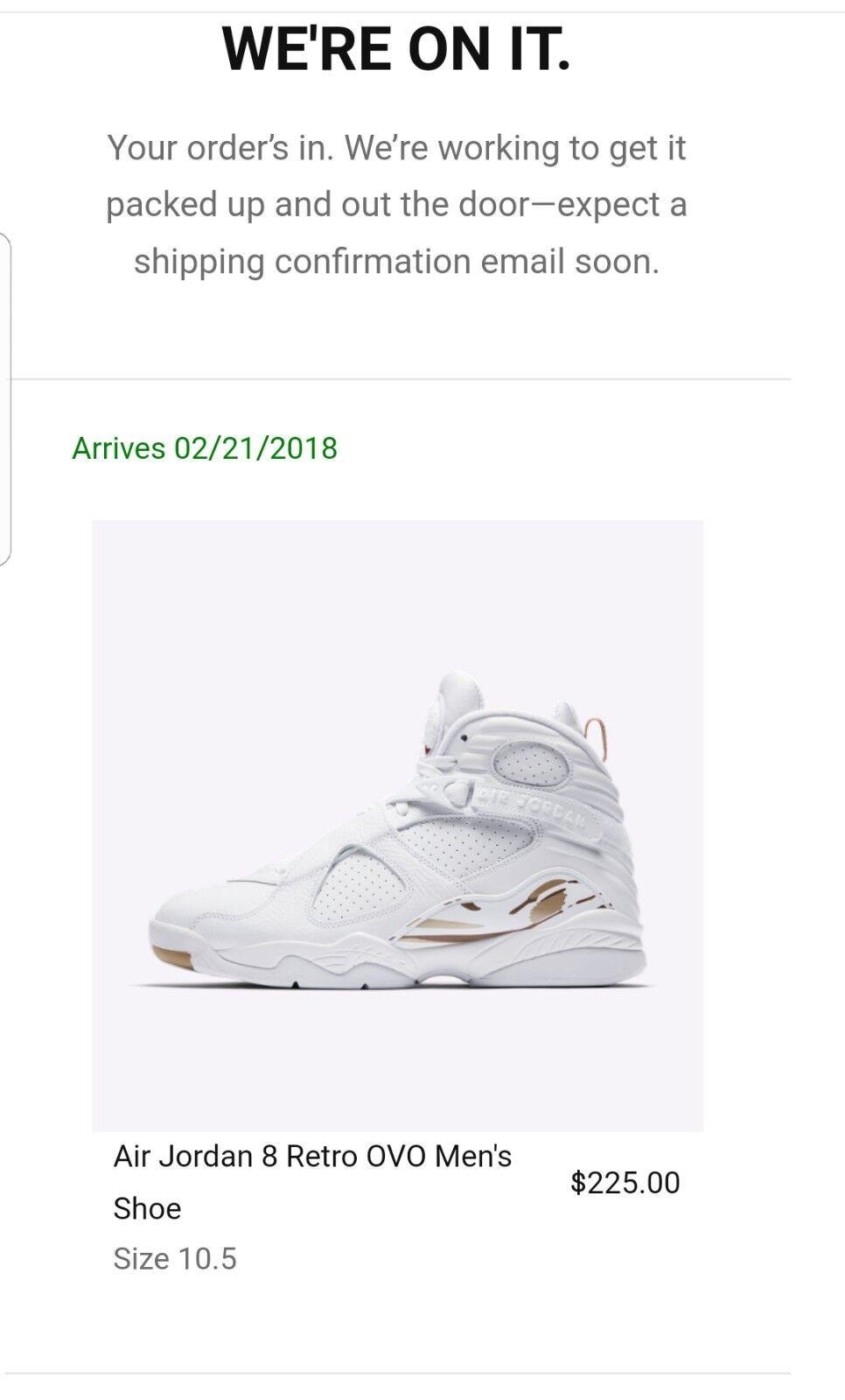 Jordan VIII OVO Size 10.5