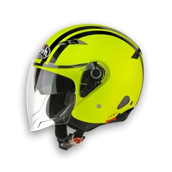 CASCO HELMET JET CITY ONE FLASH YELLOW NEW GRAPHIC 2015 AIROH IN PROMO! TG XS