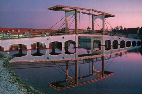 Dutch Village Holland Michigan Tulip Festival Canal MI Draw Bridge Postcard