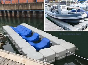 Details About Tetradock Diy Drive On Pontoon Floating Dock For Ribs And Other Boats