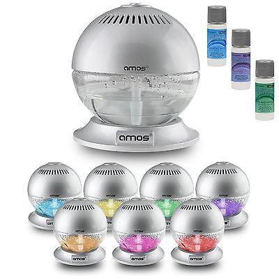 Kugel Luftreiniger Lufterfrischer Frische Luft Ionisator Reiniger mit LED Licht